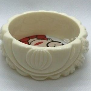 Iris for INC carved bangle bracelet Ivory COLOR